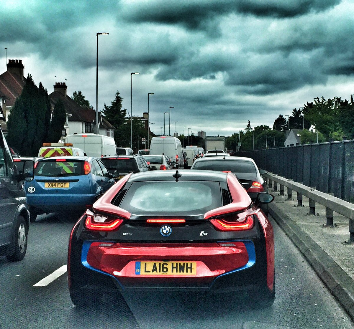 Tom Ford On Twitter Red Chrome Wrap On The Bmw I8 Personally I