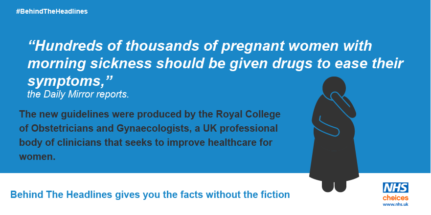 Drugs, ginger and acupuncture 'best for morning sickness'. The #BehindTheHeadlines analysis: https://t.co/Z1RLMLf6Bf https://t.co/SPwjScDgTt