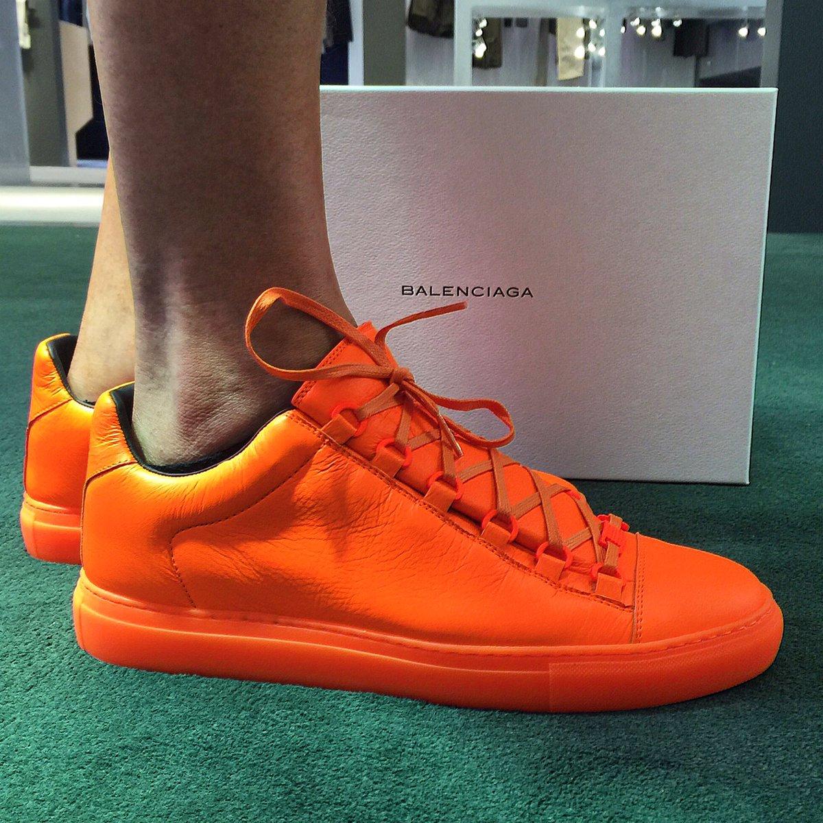 neon orange balenciaga