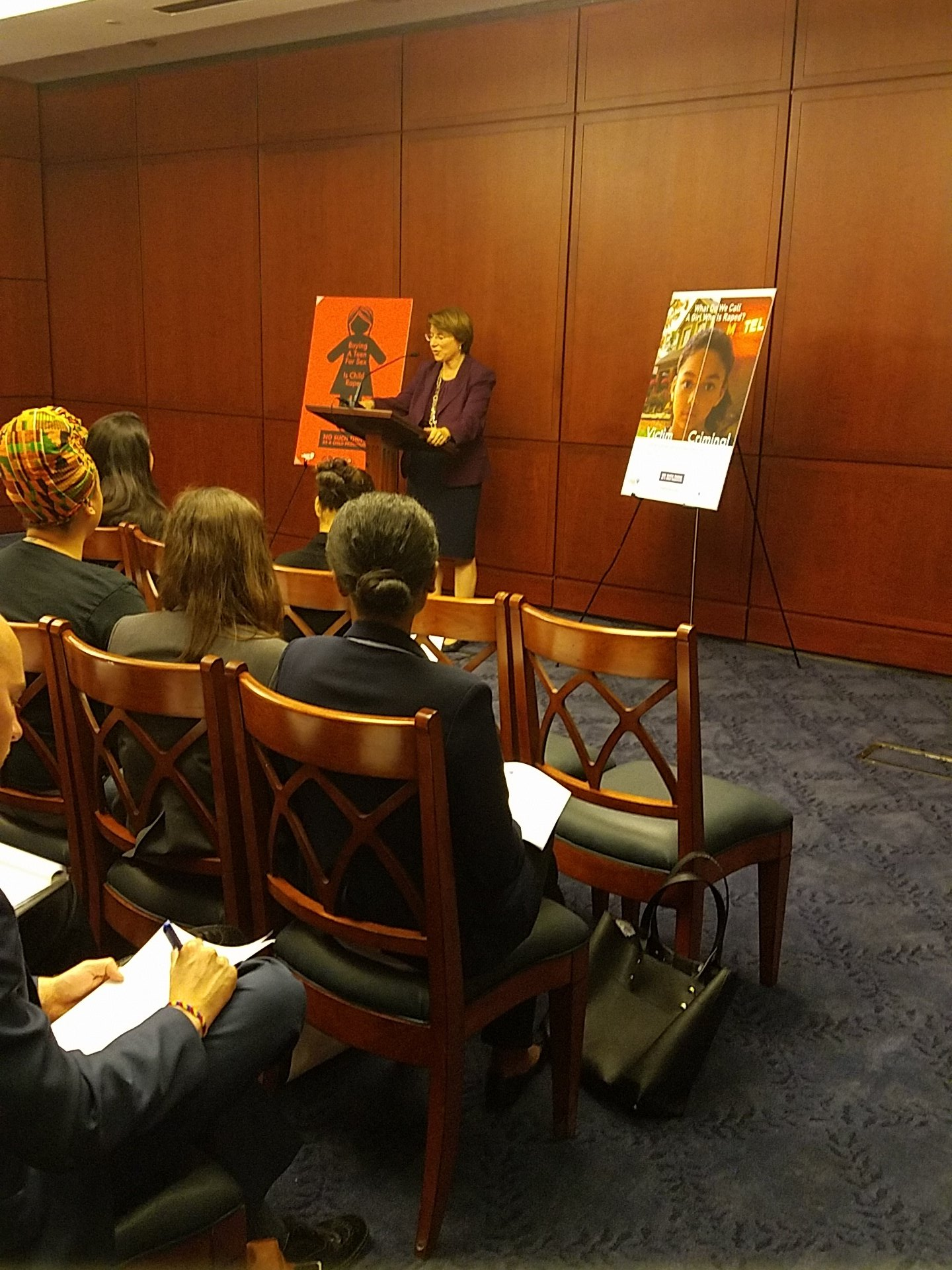 """RT @rights4girls: """"Language matters when you call a 12 year old a 'prostitute'.""""  Sen. @amyklobuchar on why there's #NoSuchThing https://t.…"""