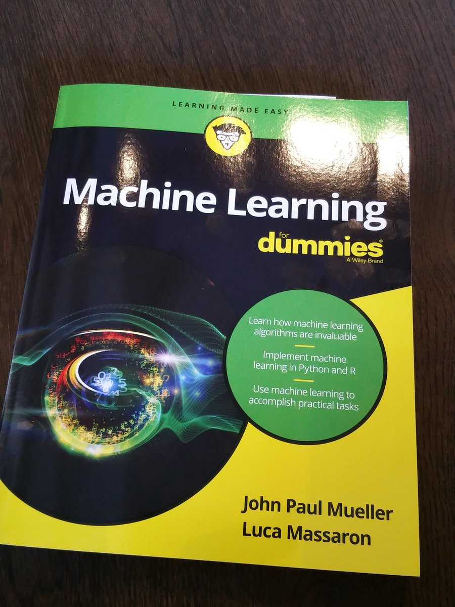 Kaggle Master Luca Massaron (https://t.co/894FlxiYML) co-authored the just-released Machine Learning for Dummies. https://t.co/2EJ6b47ang