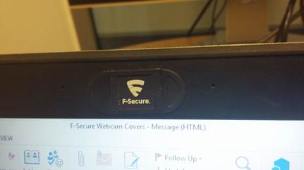 Want to win an official F-Secure cam cover?   RT this and we'll pick one winner Thursday. https://t.co/2aCvvS49ml