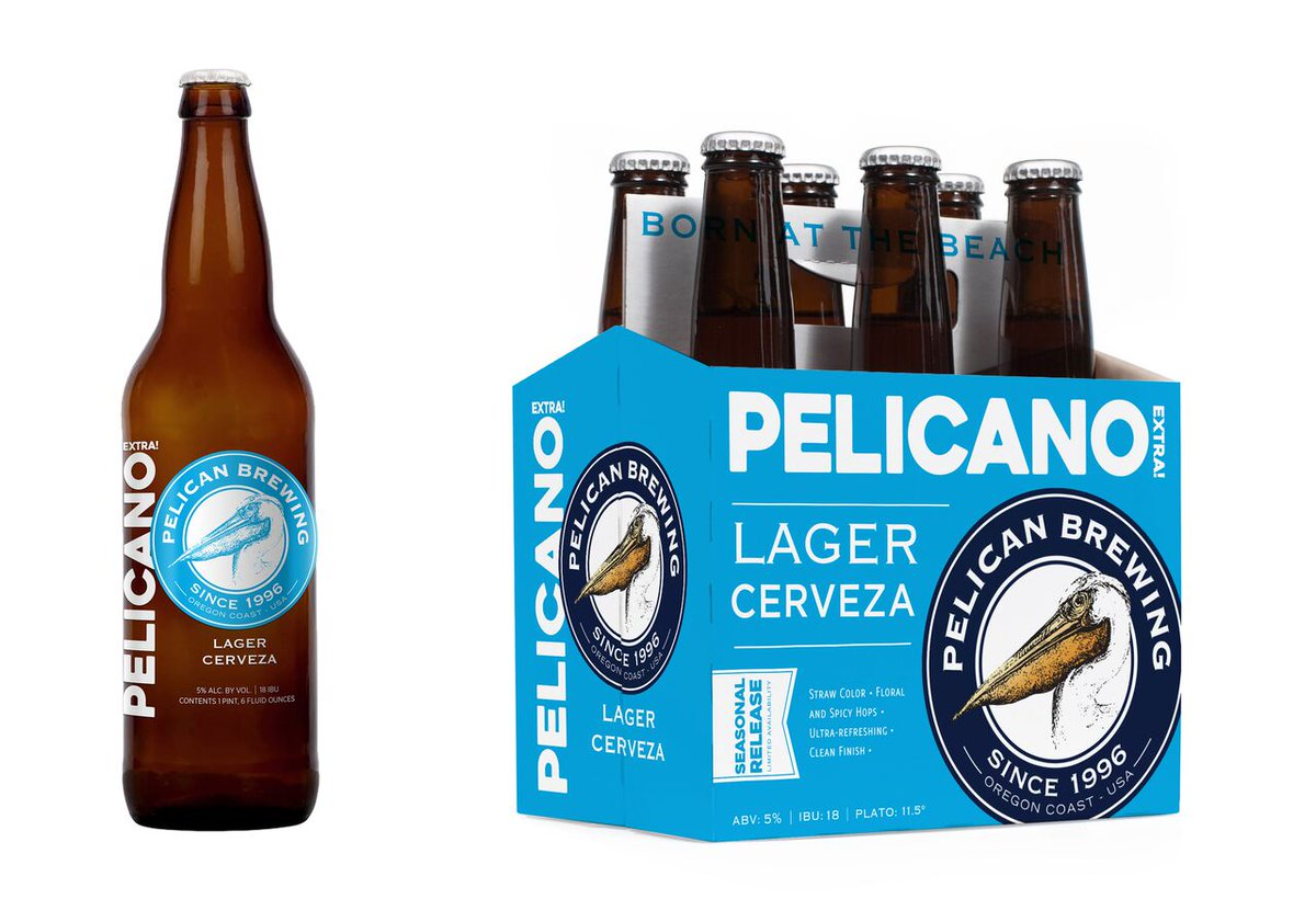 It's landing in the beer aisle next week! Pelican's Latin-inspired gold medal winning lager Pelicano EXTRA! #beer https://t.co/ZSuyUjzh7r