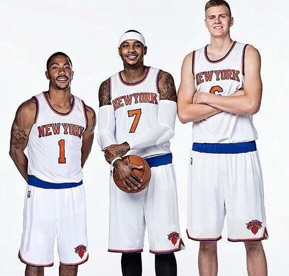 The new big 3. #KnicksNation https://t.co/lixKu0YIBF