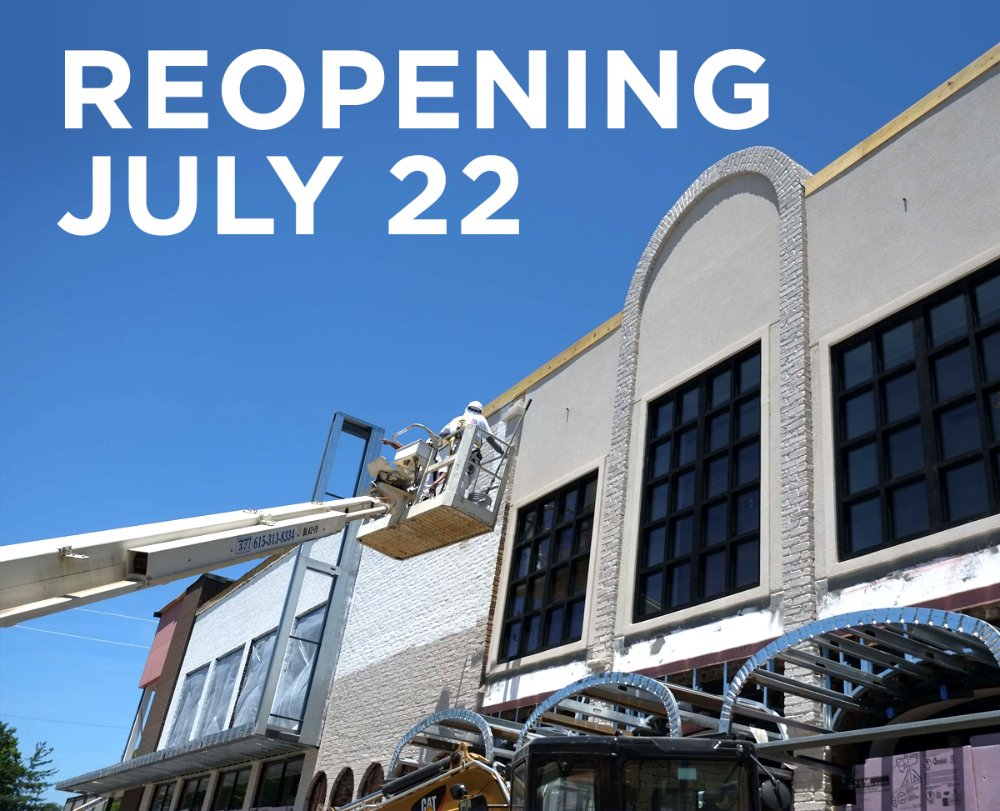 It's official! We reopen on Fri, July 22. And reopening programming to be announced very soon! https://t.co/WJV6h5MntU