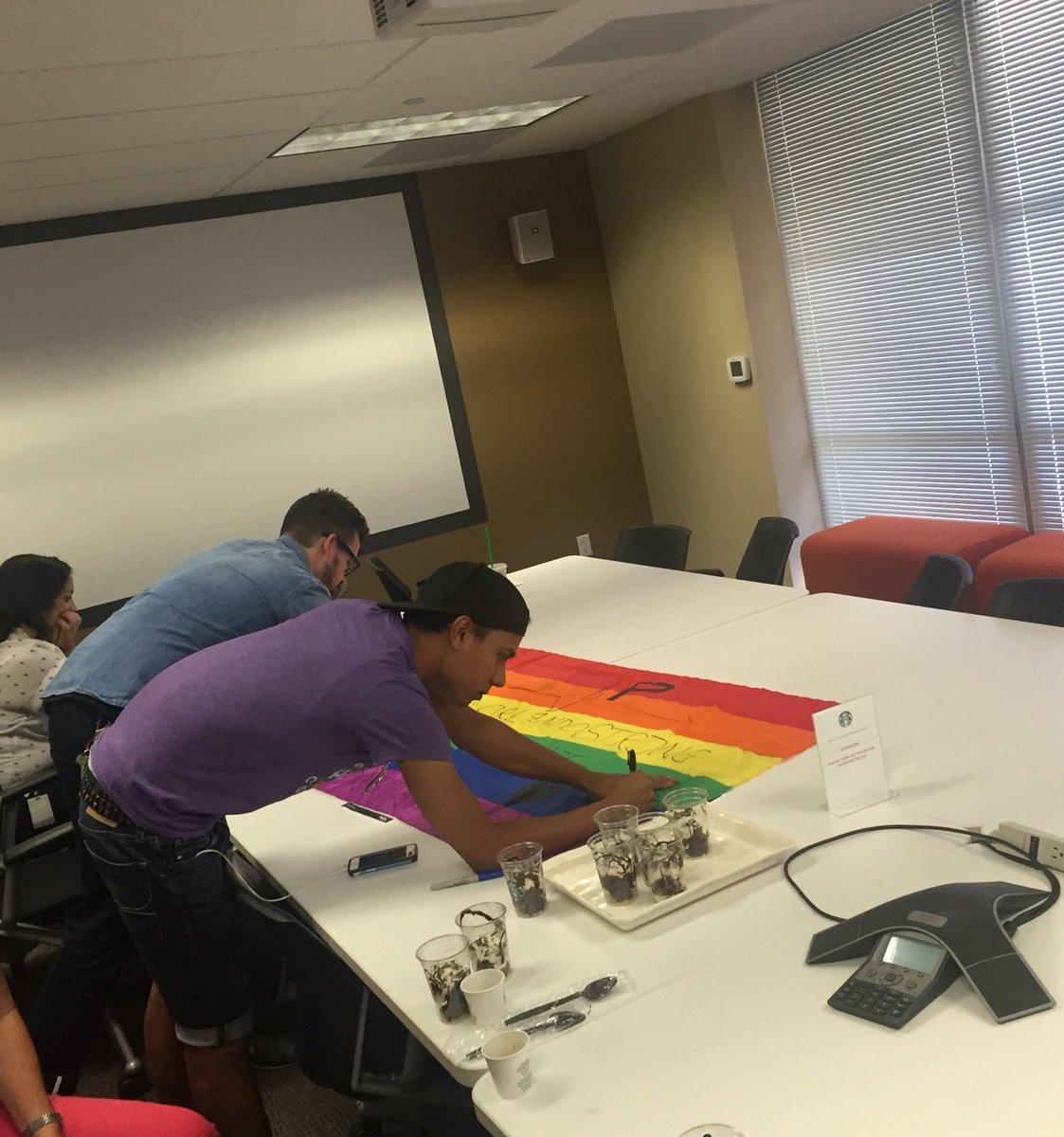 Chris Musser On Twitter Starbucks Partners In Miami Sign A Pride Flag For Our Orlando Bbooher Cherylharvey1 Djacobdarren