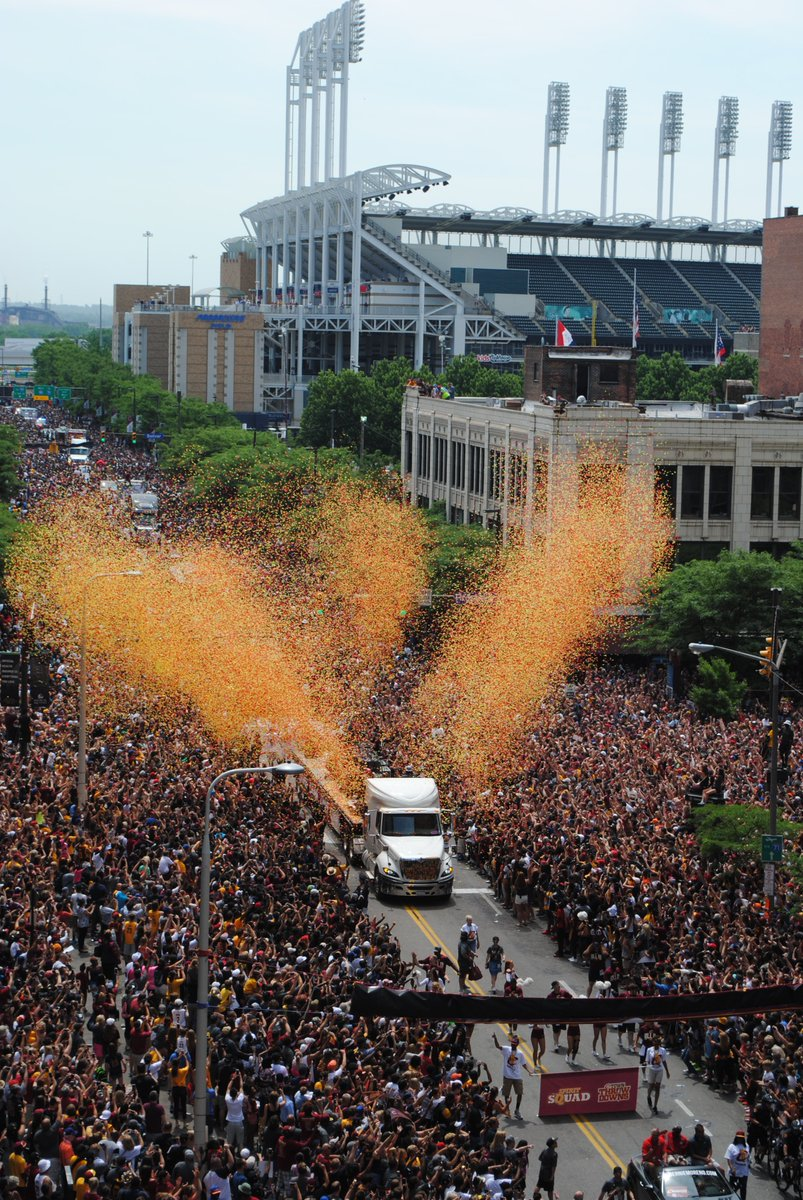 Amazing day in #dtCLE. Thank you to all who made it possible. Congrats to our Champs! Cleveland Cavaliers https://t.co/SYof18AiVJ