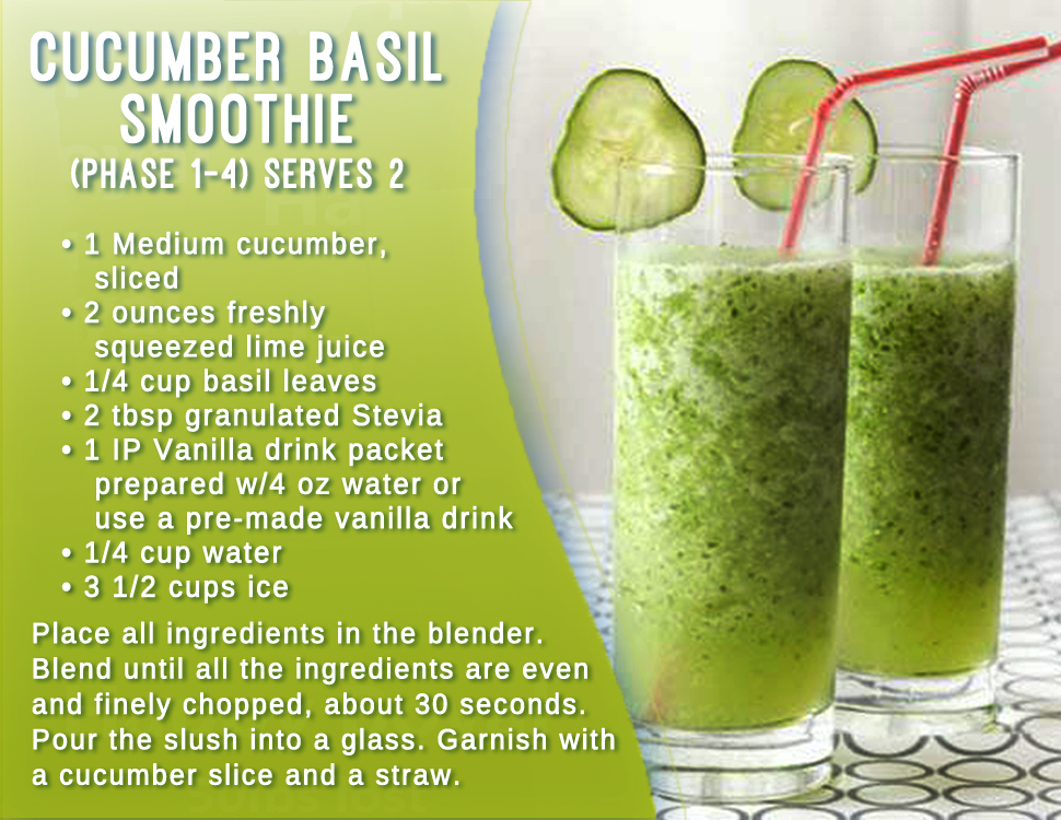 ... IdealProtein approved recipe, Cucumber Basil Smoothie! t.co/p8lJAC3r7X