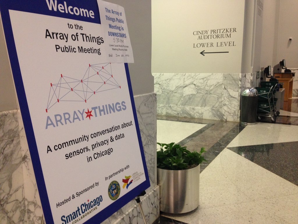 Harold Washington Library @arrayofthings meeting starts at 5:30pm! We're in the lower level multipurpose rooms. https://t.co/pfGEdvCh3e