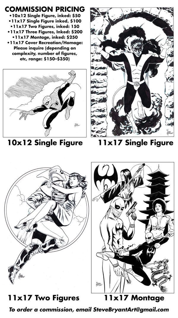 My commission list for @Comic_Con is now open! Here's my price list. More examples here https://t.co/Gpca1BsFtN https://t.co/lMVhAQgjy6