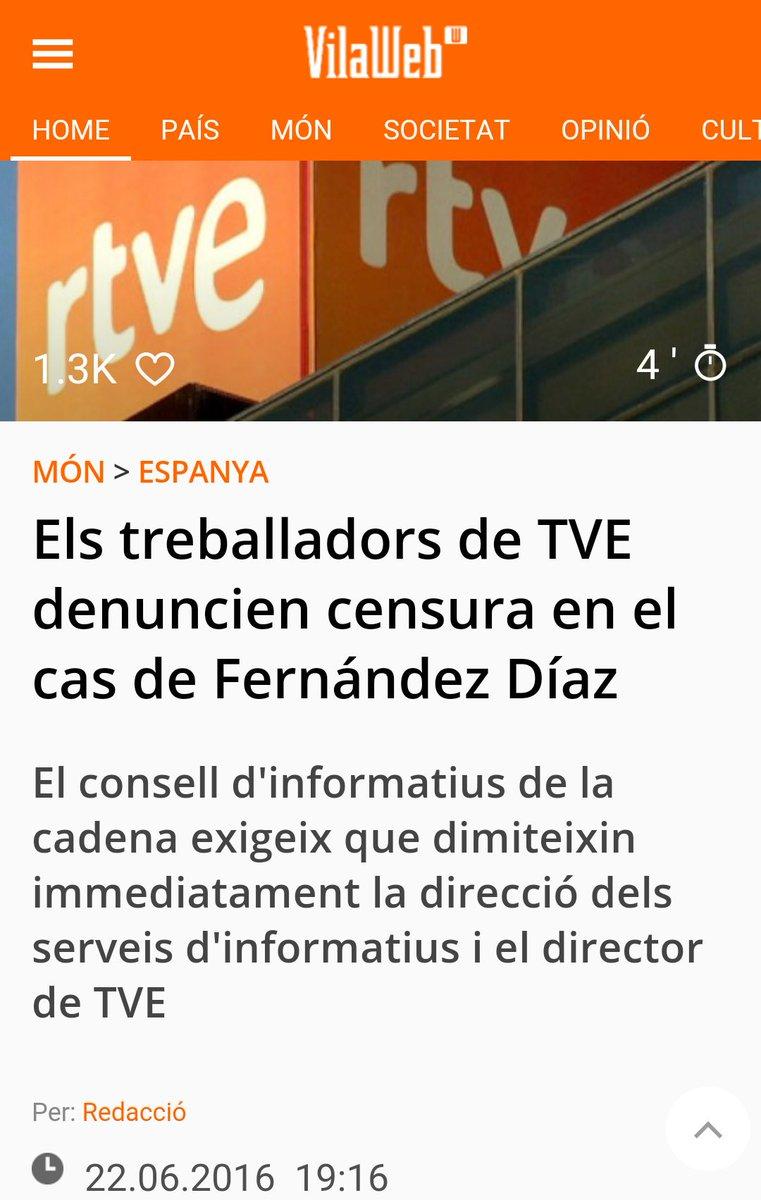 Els treballadors de TVE denuncien censura en el cas de Fernández Díaz