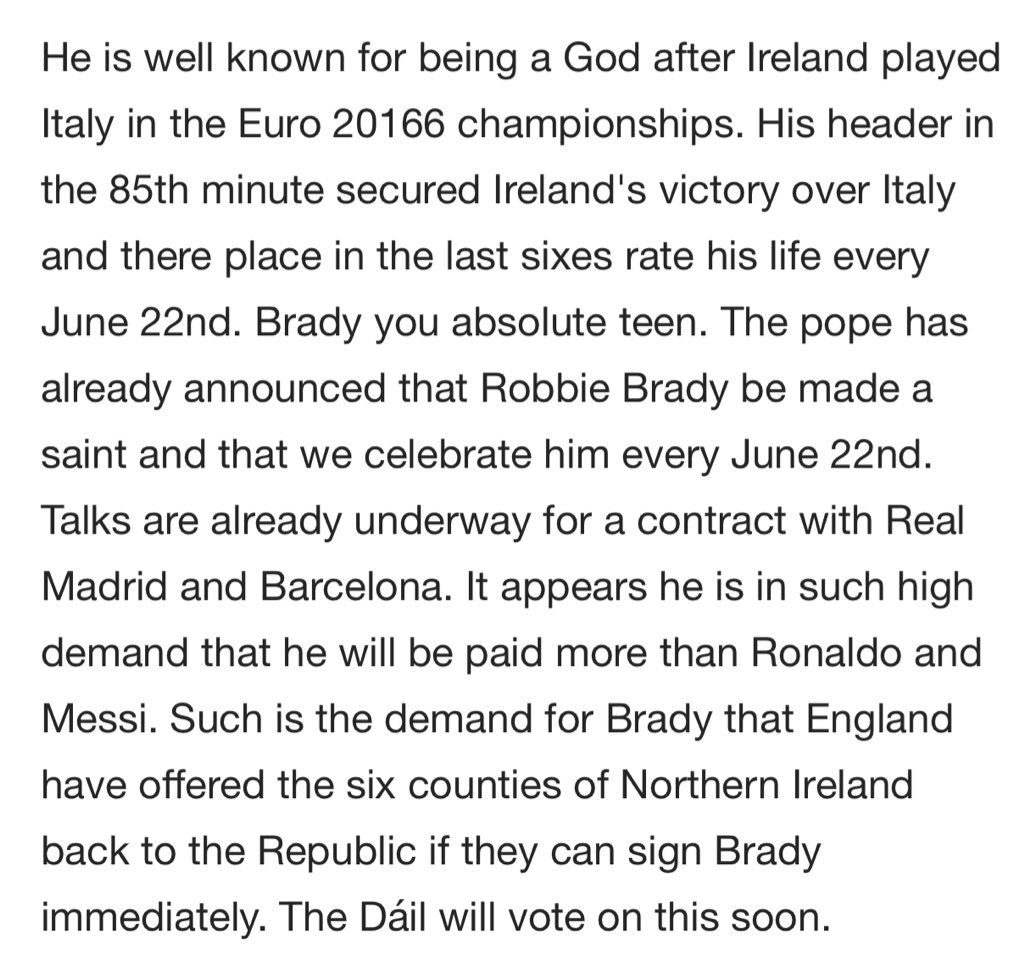 Also, this is what his Wikipedia entry currently reads like. #robbiebrady #coybig https://t.co/nlICpmcOlF