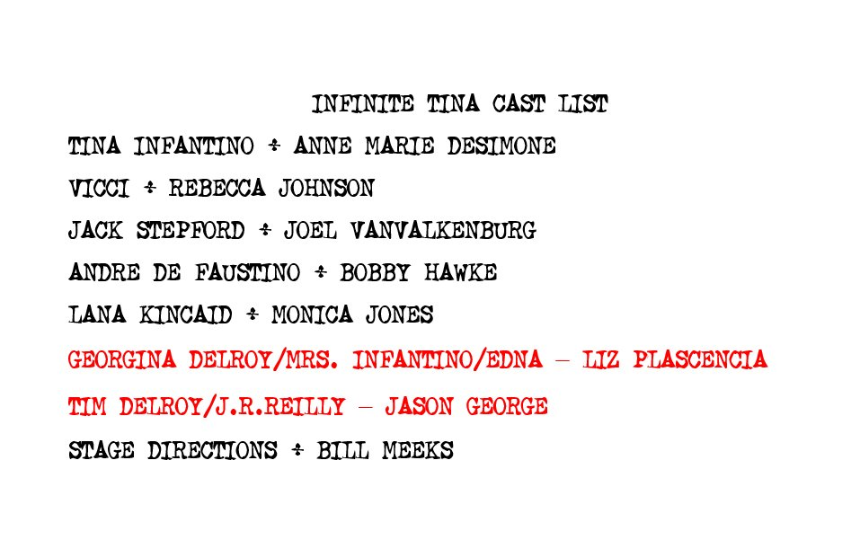 Our Infinite Tina table read is all cast and scheduled for next Tuesday at 9ET on https://t.co/bLjub9T9ja. https://t.co/SjCINMrycg