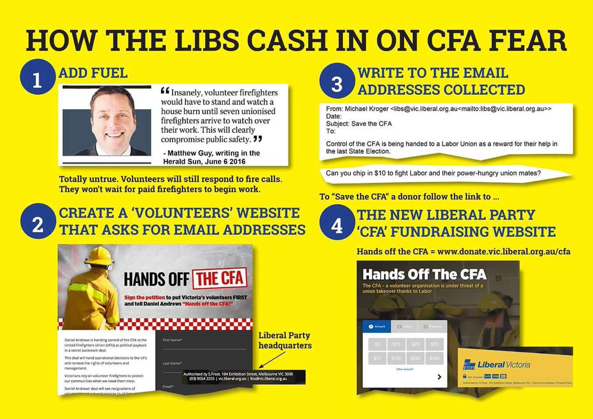@TurnbullMalcolm Will the police be asked to  investigate the Libs dodgy involvement in the #CFA  https://t.co/RM5nWxNRxM #ausvotes
