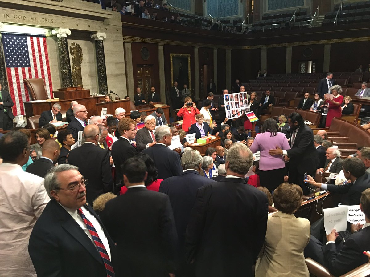 Does it look like @HouseDemocrats are going anywhere?! Consider the floor held. #NoBillNoBreak https://t.co/54HL1uG9NK
