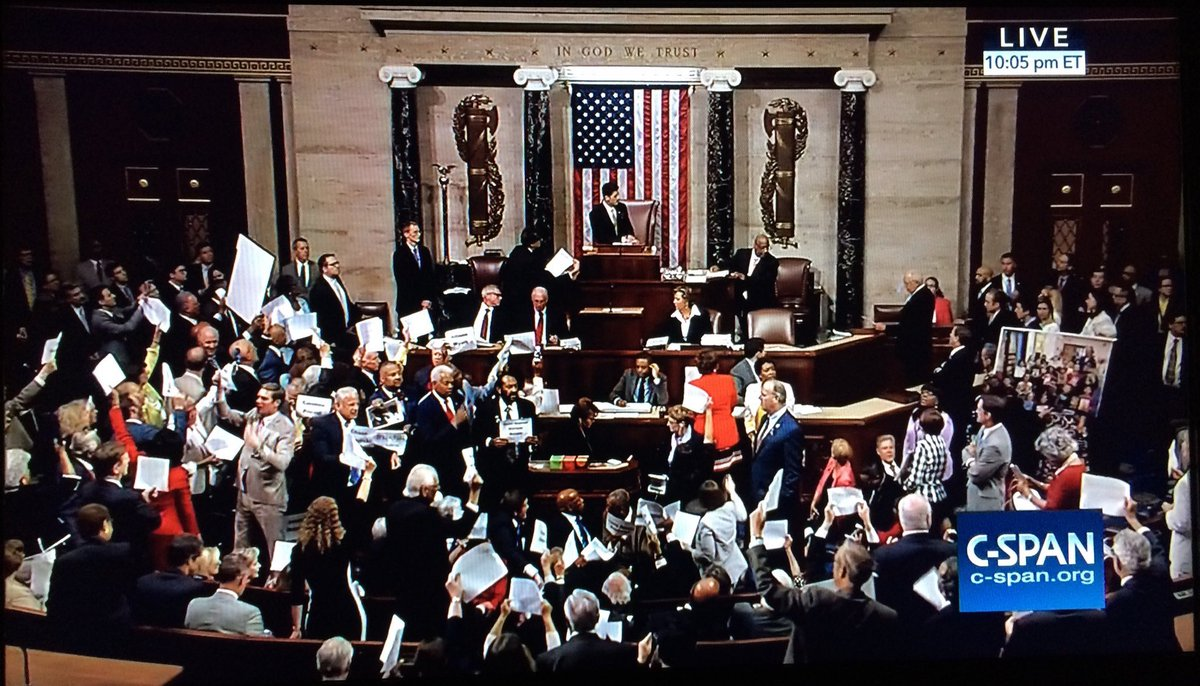 I've never seen an image like this before in congress. #NoBillNoBreak https://t.co/VwudyWJgkT