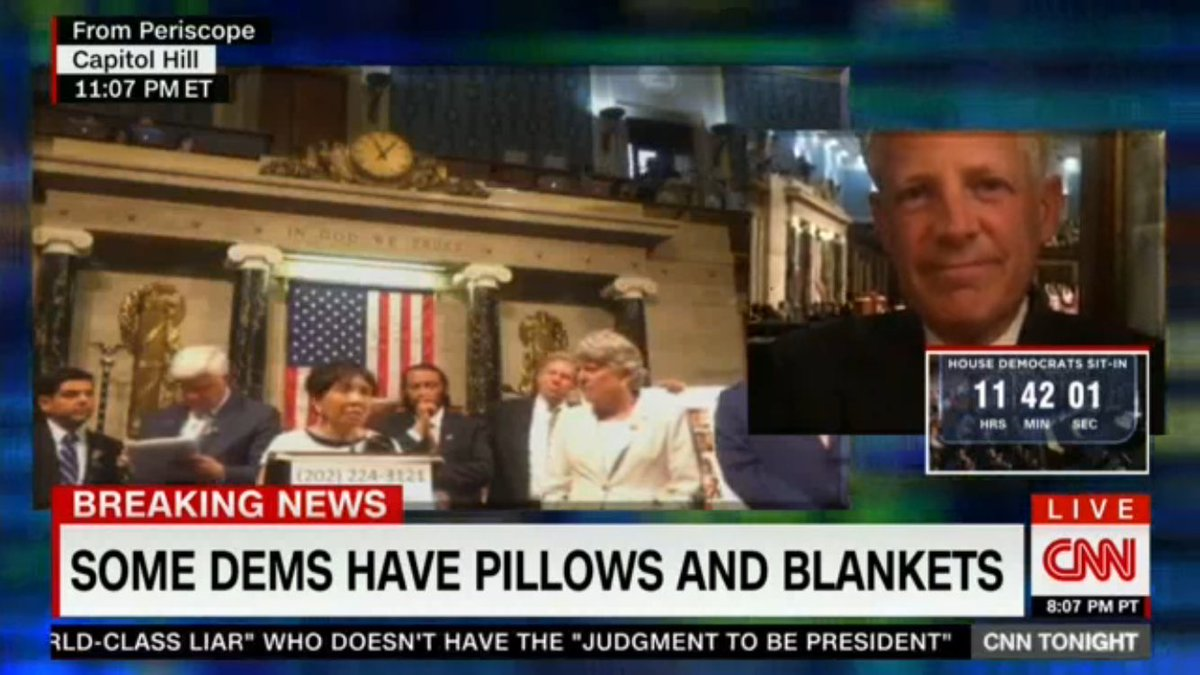 .@CNN broadcasting #NoBillNoBreak feed from @periscopeco while interviewing @RepSteveIsrael via FaceTime. https://t.co/vl6t2Nu8h3