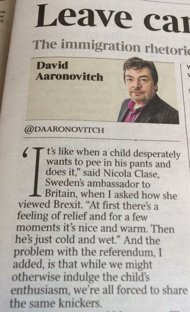 Ouch. via @DAaronovitch   #Brexit #Remain #EUref  #EUreferendum https://t.co/BCEVzwf1LG
