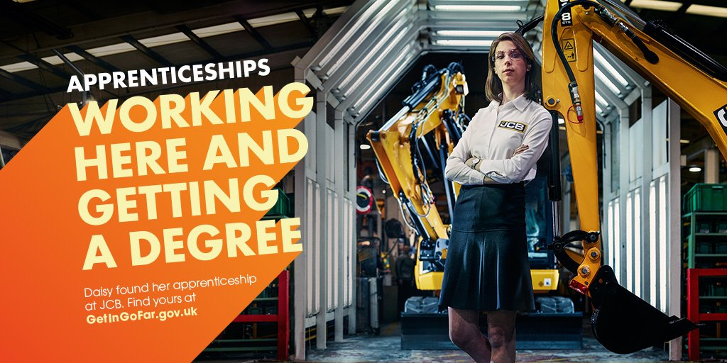 RT @Apprenticeships: Daisy's developing skills in different areas of engineering through her apprenticeship at JCB #NWED2016 #GetInGoFar ht…