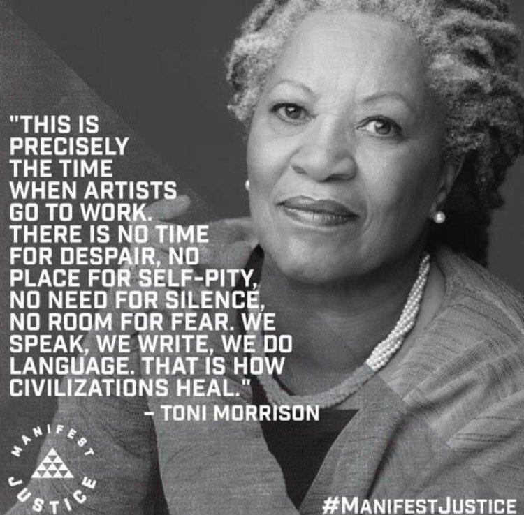 'We speak, we write, we do language. That is how civilizations heal.'--Toni Morrison https://t.co/S16jB3UzRQ