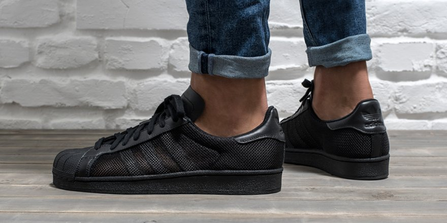 Adidas Superstar Black Reflective