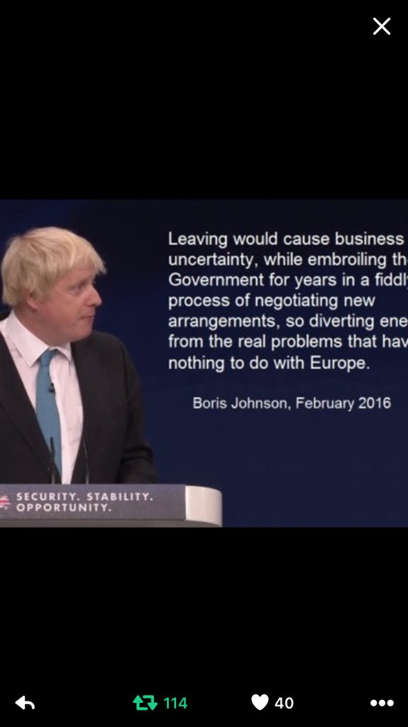 I wonder if Boris will reflect on these words from Feb 2016 today. I certainly will. Because what he said is true https://t.co/AN5biKJEV7