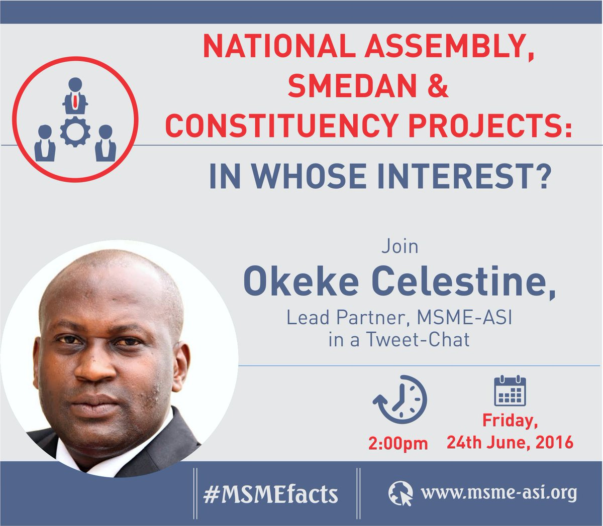 Join us this Friday as we discuss SMEDAN projects with @okekecc  #MSMEfacts https://t.co/zEexHM5tyD