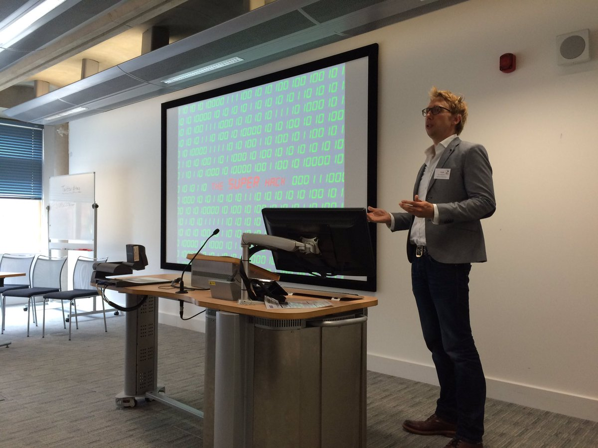 .@Frank_Corneliss starts our conference by introducing the SUPER hack #SUPERhack16 #SUPER2016conf https://t.co/MBvZTiq0YV