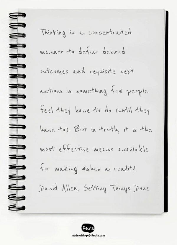 David Allen note