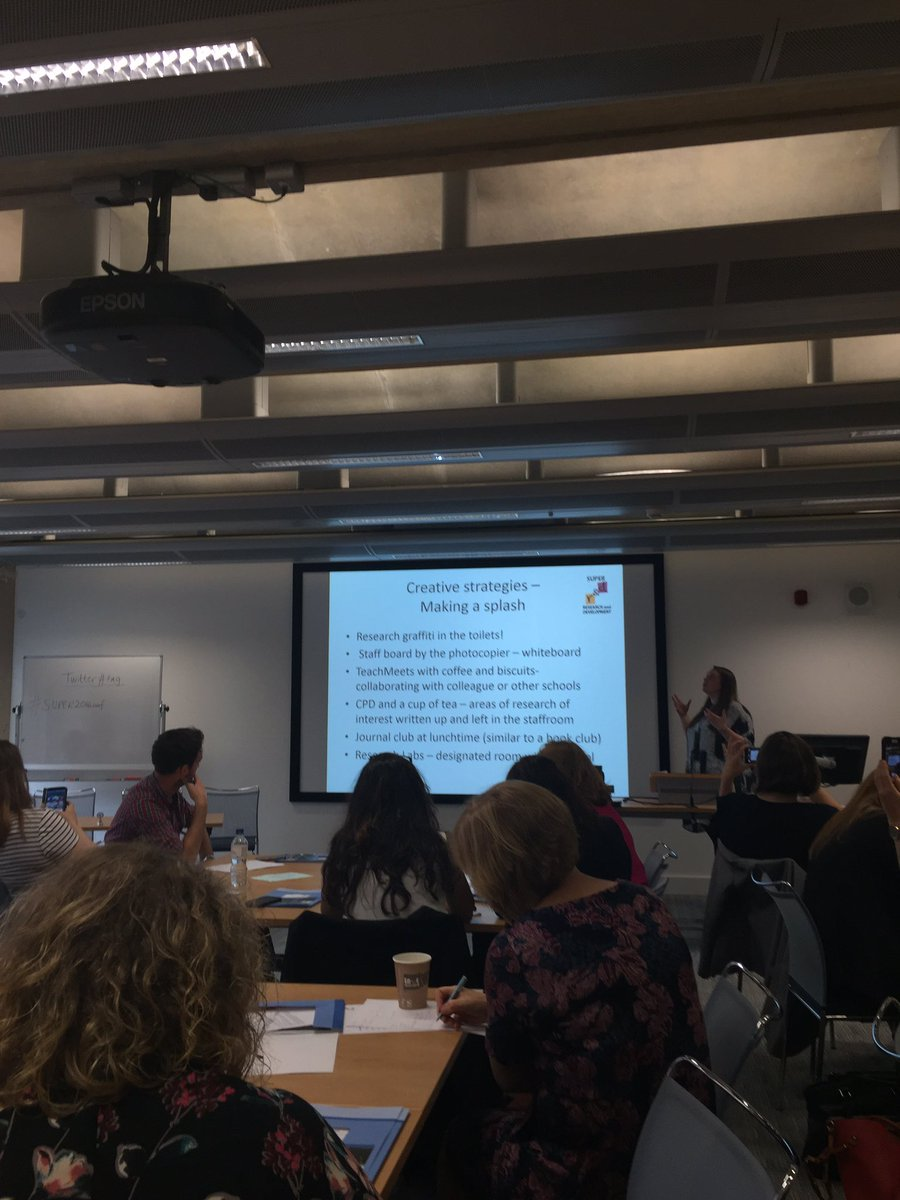 How to 'make a splash' and get more people in your school involved in research #SUPER2016conf @SUPER_Network https://t.co/DZ9JQ2N1Vu