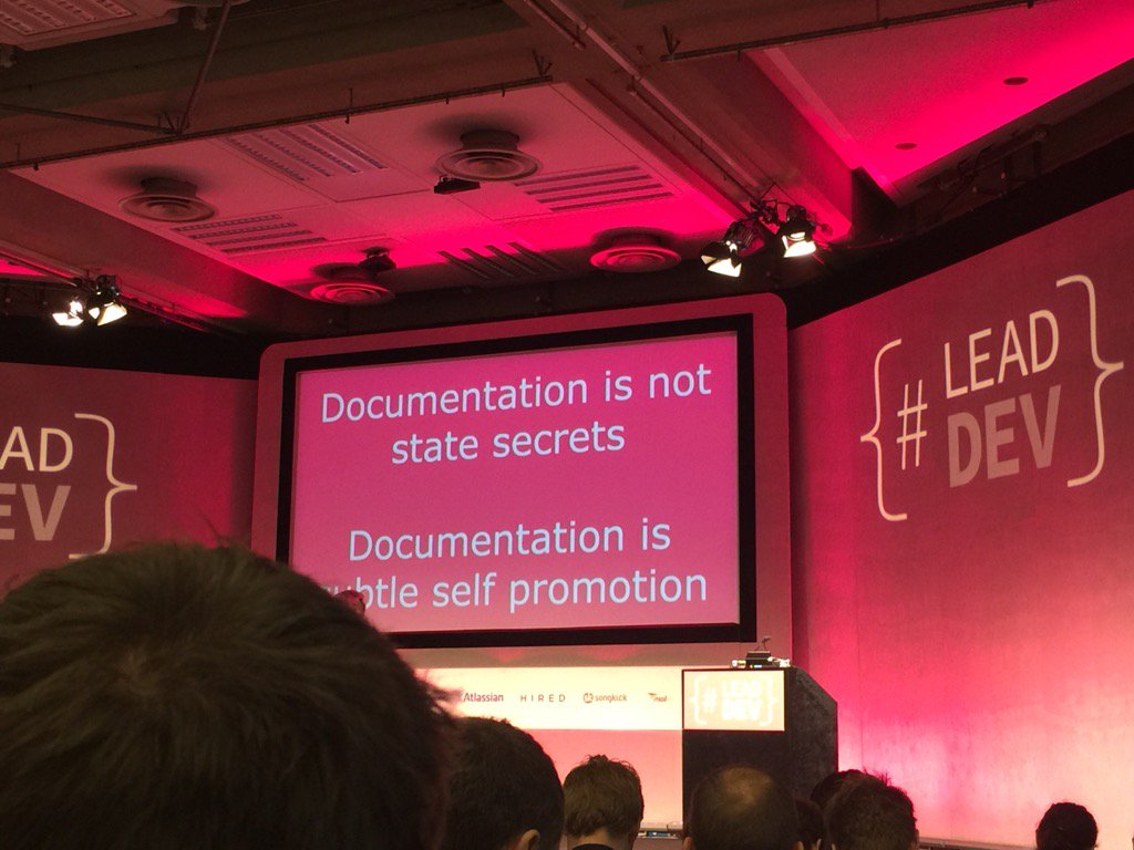 Documentation is not state secrets / Documentation is subtle self-promotion