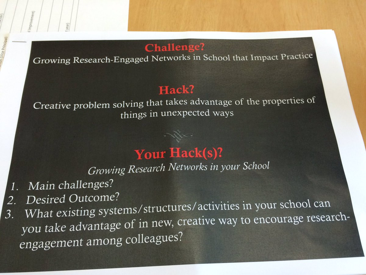 Today @Frank_Corneliss leads 5 teams from SUPER in hacking ed research in schools #SUPERhack16 (corrected hashtag) https://t.co/JnikaGZ38Q