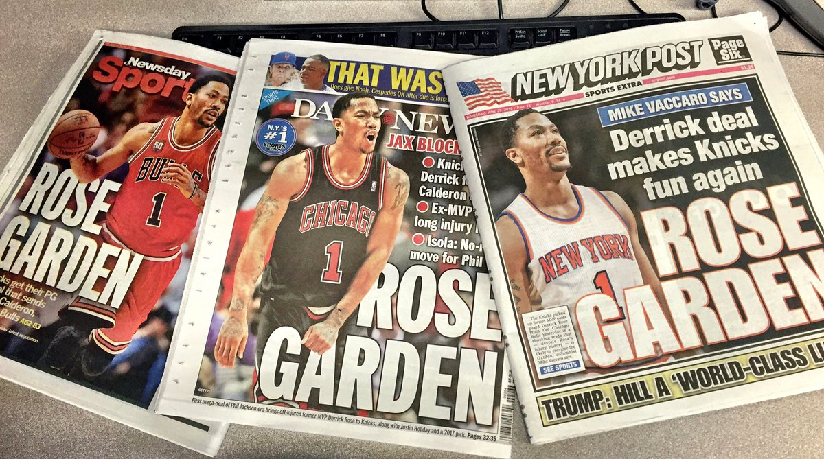 It's clever... Until you all do it. #Triplets #RoseGarden #Knicks https://t.co/ckI0SkLZqb