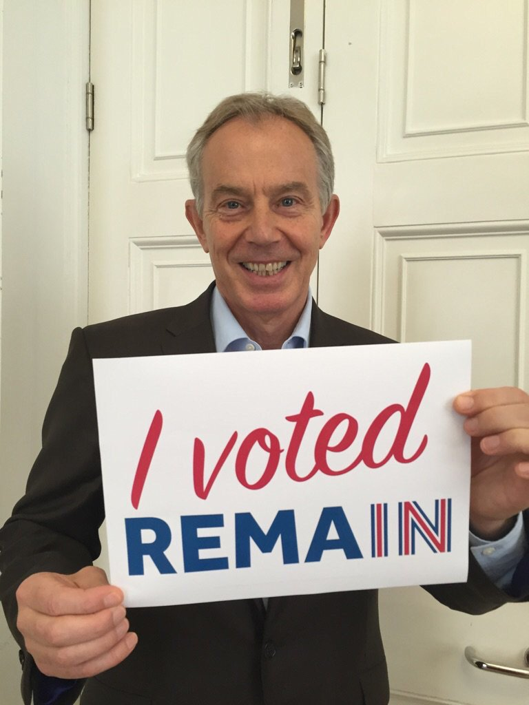 Tony Blair just voted Remain. Get out there and #VoteLeave https://t.co/2nXLWGiipx