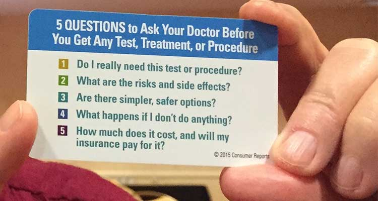 Forgot what you meant to ask your doctor? Carry these 5 questions. #ChoosingWisely https://t.co/qKIBczI2Kw