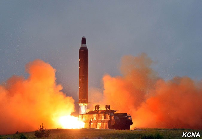 The first succesful launch of North Korea's Hwasŏng-10 intermediate-range ballistic missile