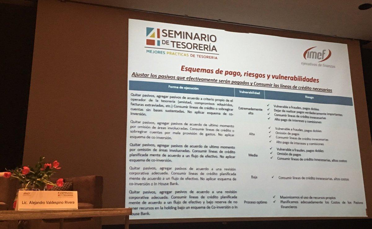 Cuando todo urge, ya nada es urgente - A. Valdespino #IMEFseminariodeTesoreria  @IMEFOficial  @IMEF_CDMX @GrupoBMV https://t.co/47OgKguxCV
