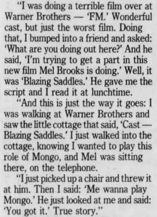 """How Alex Karras landed the part of Mongo in """"Blazing Saddles"""": #Lions #NFL https://t.co/E3YkUJNDc7"""
