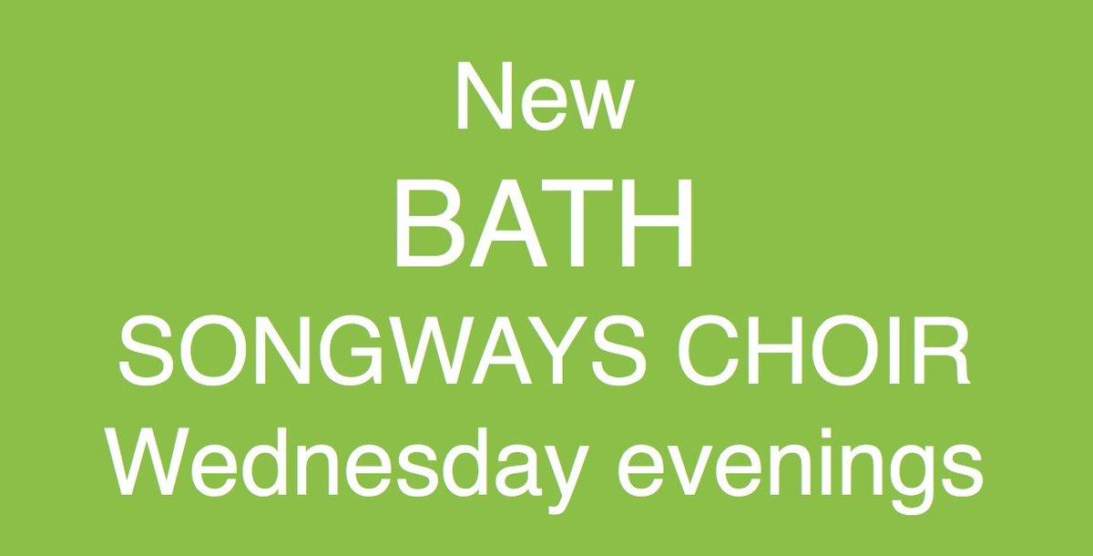 NEW BATH SONGWAYS CHOIR: uplifting, heart-warming, rewarding, fun, open to all. Register now https://t.co/Oda5WMyvWd