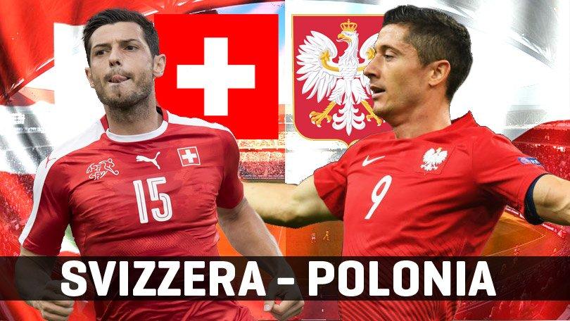 Diretta SVIZZERA POLONIA Streaming TV gratis oggi ottavo EURO 2016