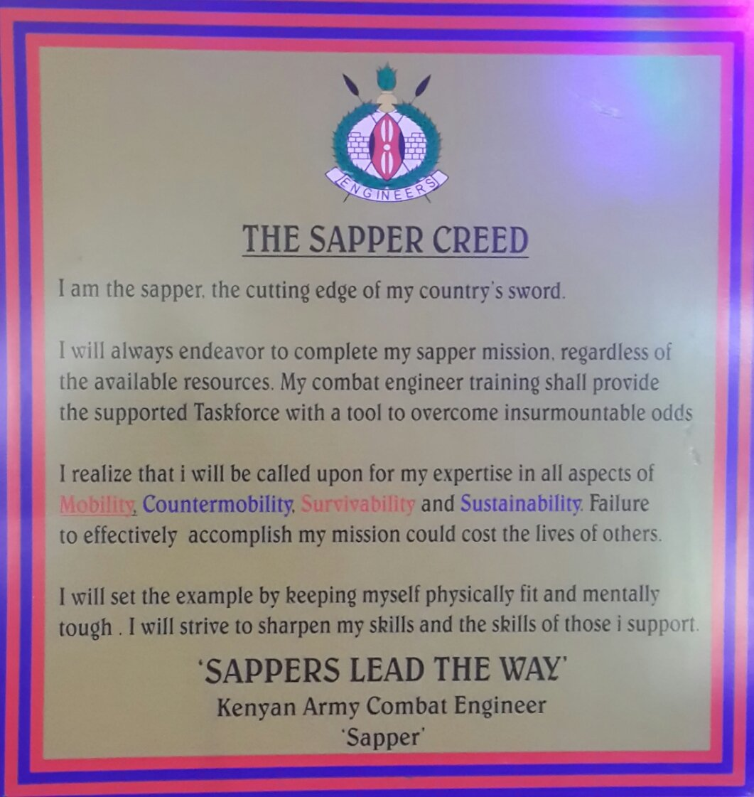 """Kenya Defence Forces On Twitter: """"I Am The Sapper, The"""