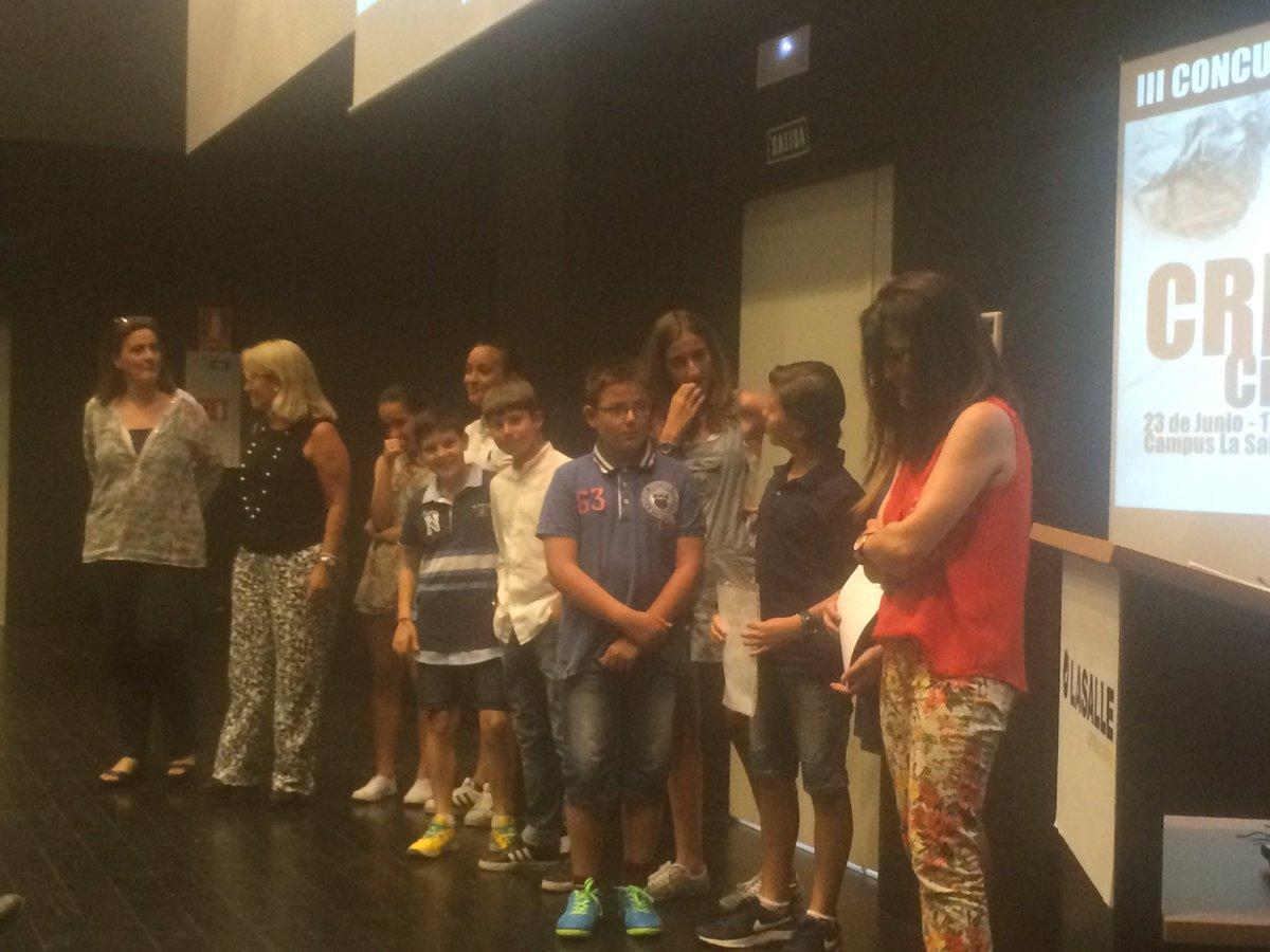 Presentes también en #IIIconcursoCREAlasalle alumnos de primaria que trabajan crea de @LaSalleInstituc https://t.co/x1G6YHCFn3