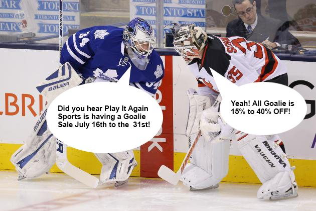 Play It Again Sports On Twitter Our Annual Goalie Sale Is Back On