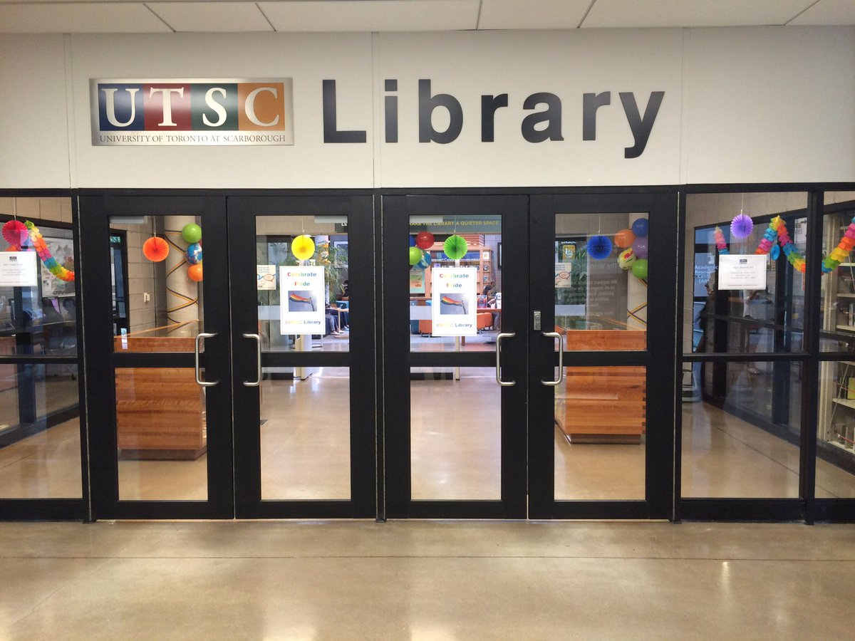 This picture shows the front view of the UTSC library that is located on campus!