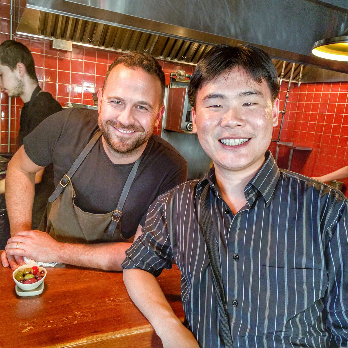Chef Craig Harding with Travelling Foodie at Campagnolo, Toronto