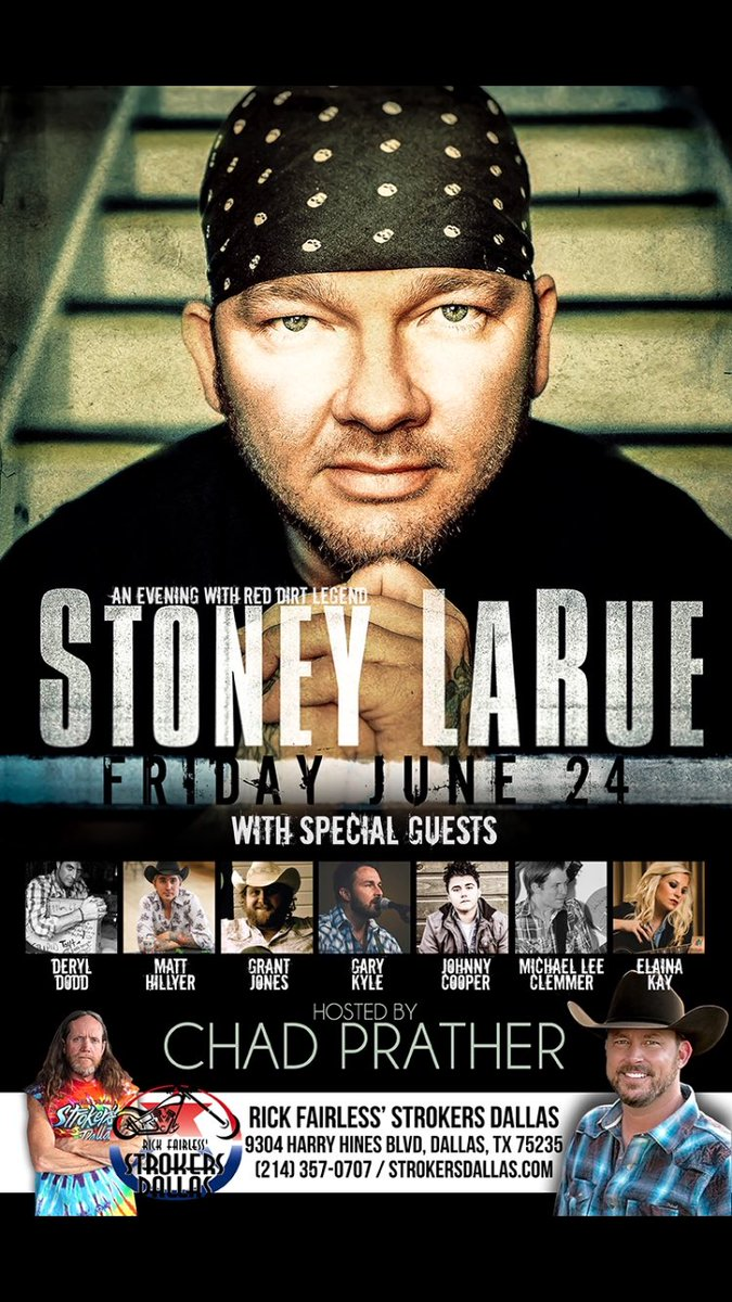 Friday night #texascountry @3418Music @strokersdallas @stoneylarue @johnnyrcooper @_dallasmusic @DObserverMusic https://t.co/XtiDjegJM5