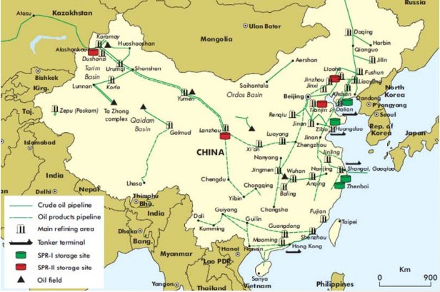 china oil pipeline map Lisa Ward On Twitter Oott Map Of China Showing Crude Oil china oil pipeline map