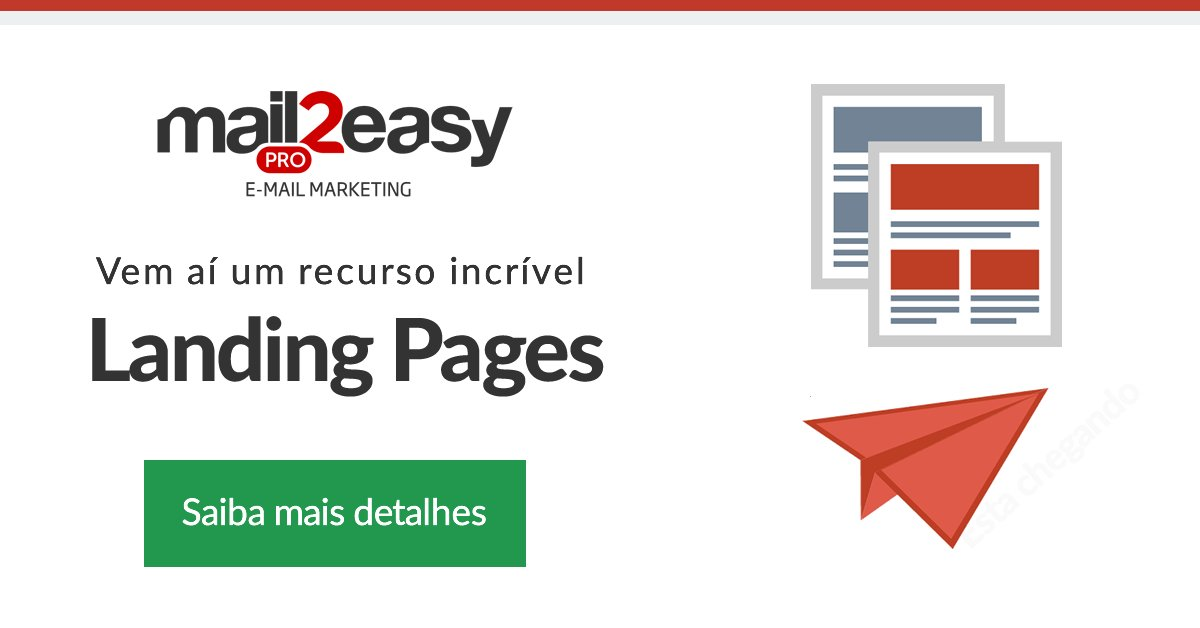 Em breve você poderá construir landing pages no Mail2Easy PRO! #landingpages #email https://t.co/rabcTGSDQG https://t.co/9dzVzlBO5w