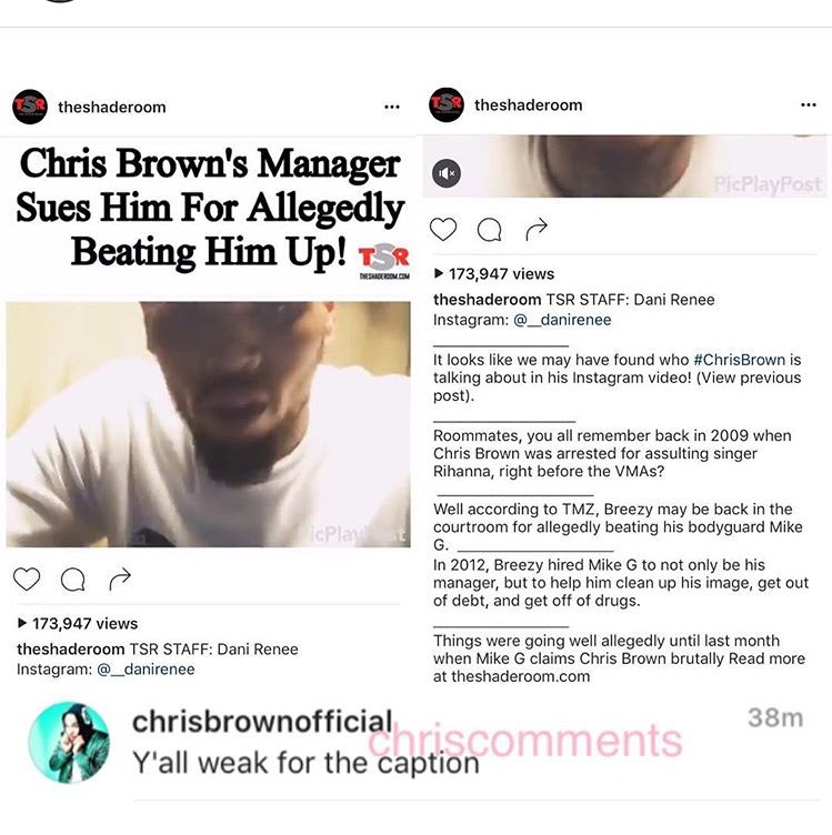 Chris Brown Calls Out The Shaderoom | Lipstick Alley