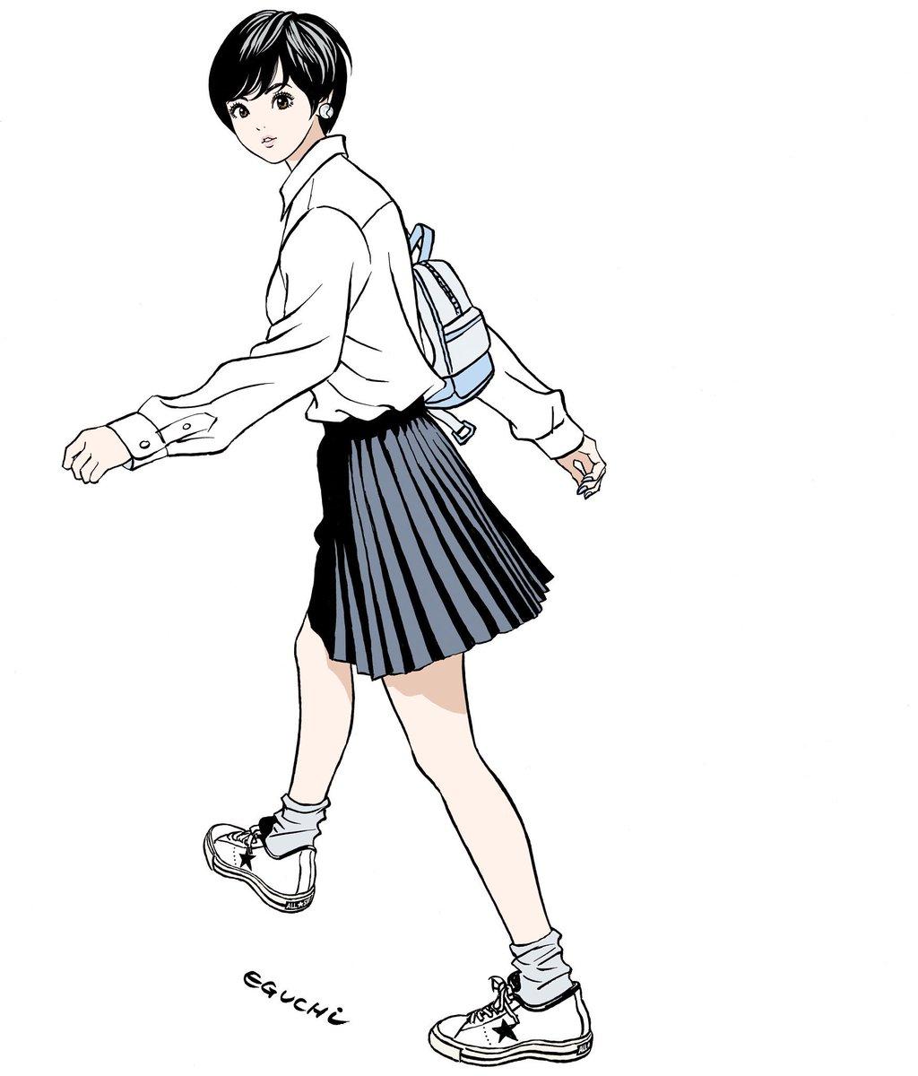 江口寿史の制服画像
